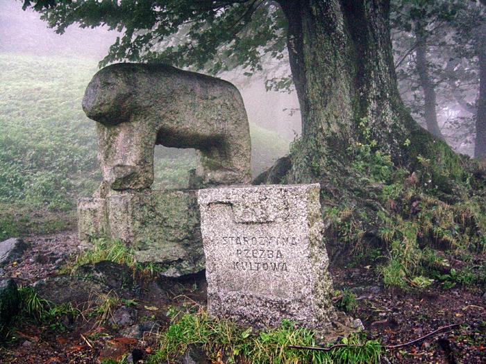 Rzeźby kultowe - Niedźwiedź Ślęża