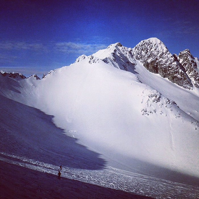 Na lodowcu Presena w Tonale