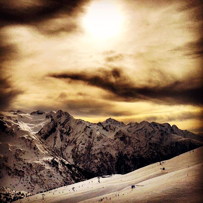 Zachód słońca w Dolomitach