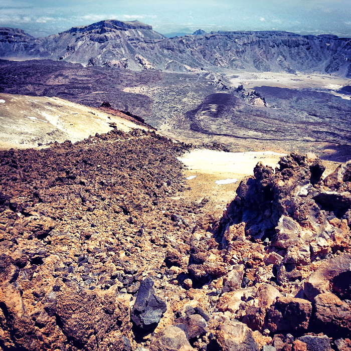 Lawa z wulkanu Teide, Teneryfa