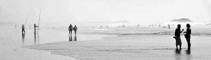 Plażowa panorama - plaża w Agadirze