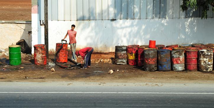 Stacja benzynowa w Maroko