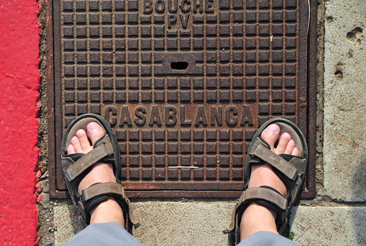 Casablanca, stopa moja stanęła w Casablance :-)