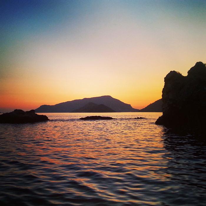 Zachód słońca, Oludeniz