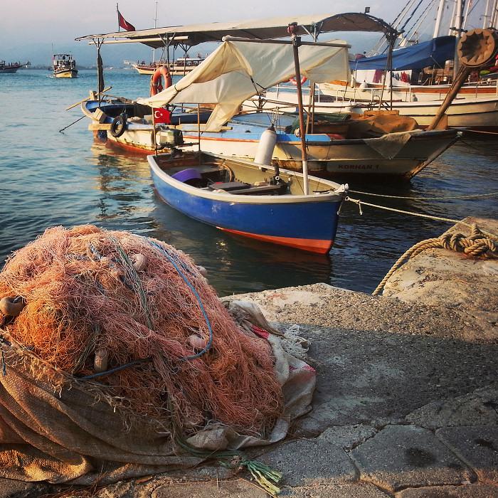 Łodzie tureckich rybaków