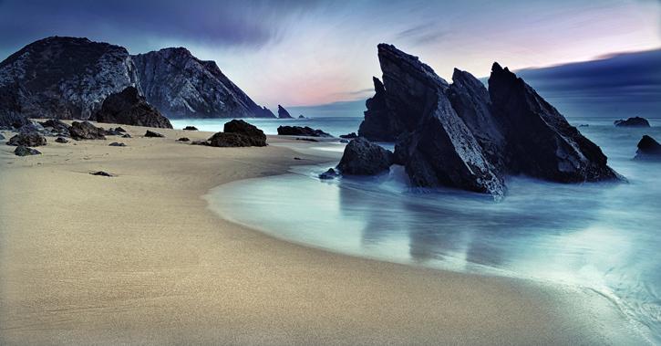 Piękna plaża w Portugalii