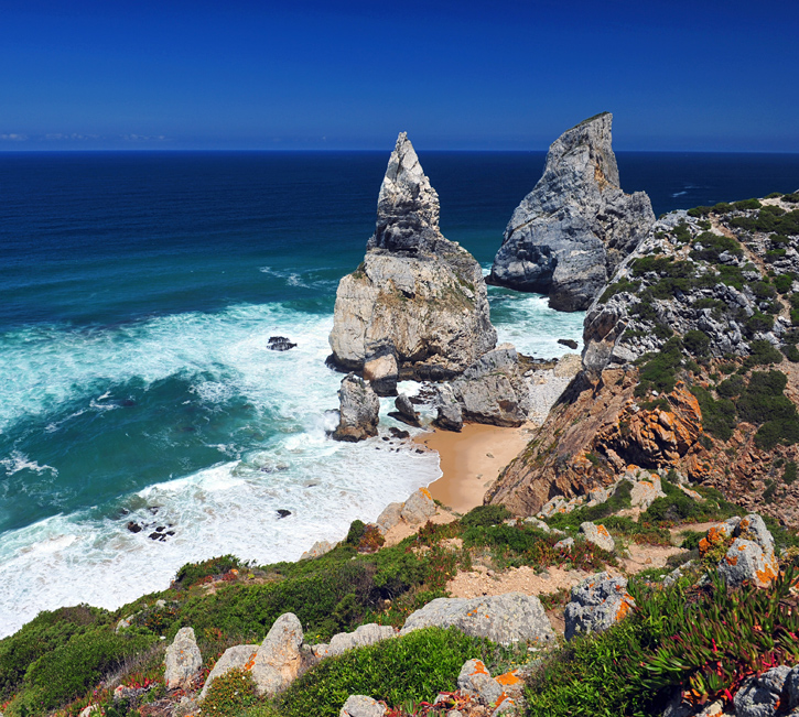 Plaża, ocean, skały