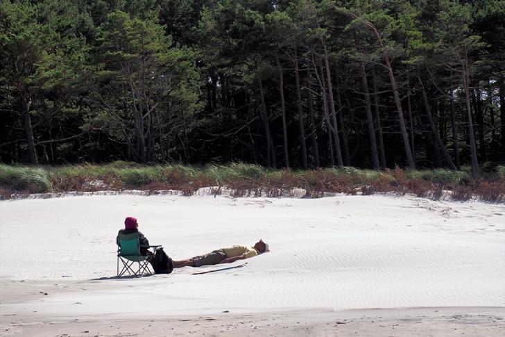 Wypoczynek na polskiej plaży