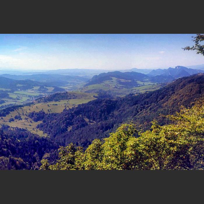 Widok ze szczytu Wysokiej