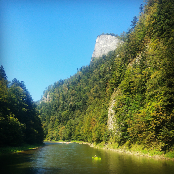 Kayaking on the Dunajec