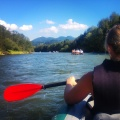 Kayaking through Dunajec Gorge