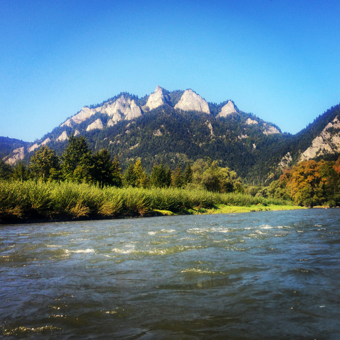Three Crowns, view from Dunajec River