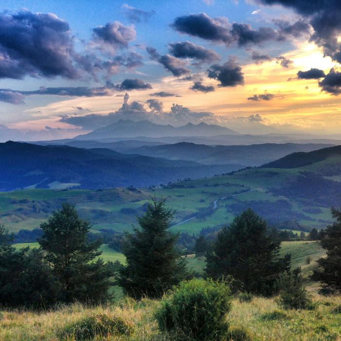 Widok na Tatry, Wysoki Wierch