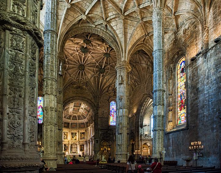 Wnętrze kościoła w Belem, Lizbona