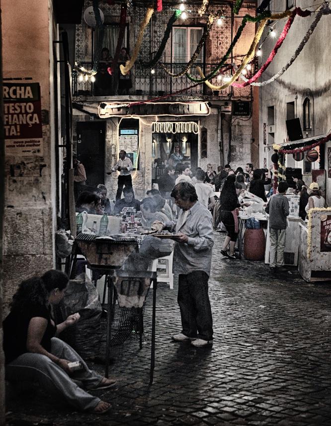 Lizbona - zabawa na ulicach
