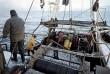 Pescadores, mar, barco Hel-125