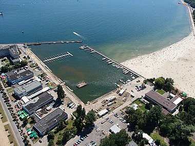 Gdynia, yacht harbour, aerial photo