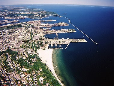 Aerial photography, Harbour, Gdynia