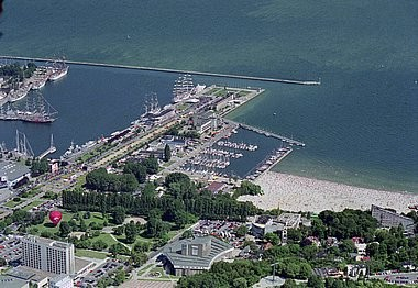 Gdynia, harbour, aerial photography
