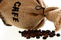 Caf�, grãos de caf�