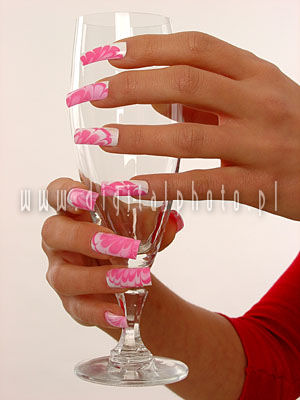 Glass, hands, nails