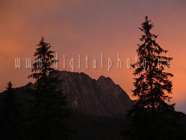 Zonsondergang in Tatry - Giewont