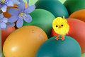 Wielkanoc, kurczaczek, pisanki
