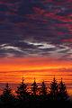 Sunrise, c�u vermelho, nuvens