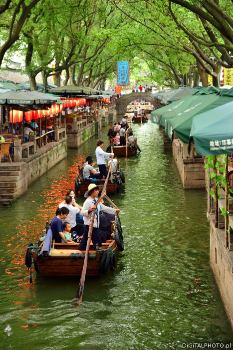 Gôndolas e canais, Tongli China