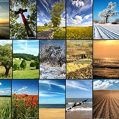 Polskie krajobrazy - pionowe zdjęcia do kalendarzy